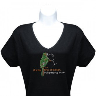 Polly Wants Wine T-shirt