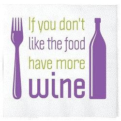 Drink More Wine Napkins
