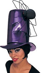 Purple Vinyl Stovepipe Spider Hat