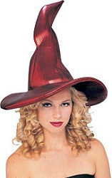 Red Crooked Witch Hat