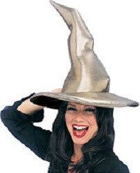 Grey Crooked Witch Hat