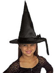 Child's Black Satin Witch Hat