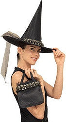 Black Skull Witch Hat with Bag