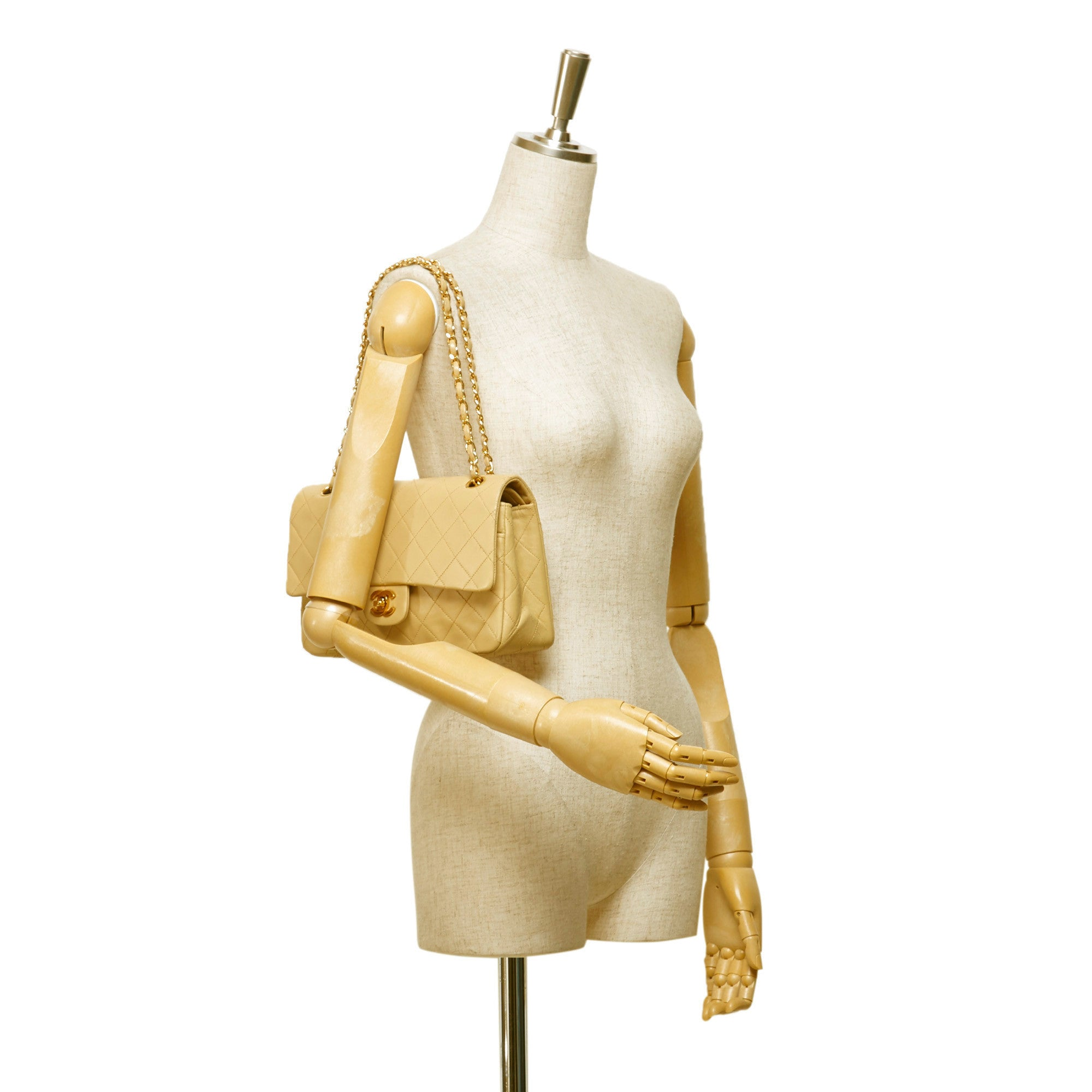 Beige 2.55 Medium Lambskin Double Flap Bag