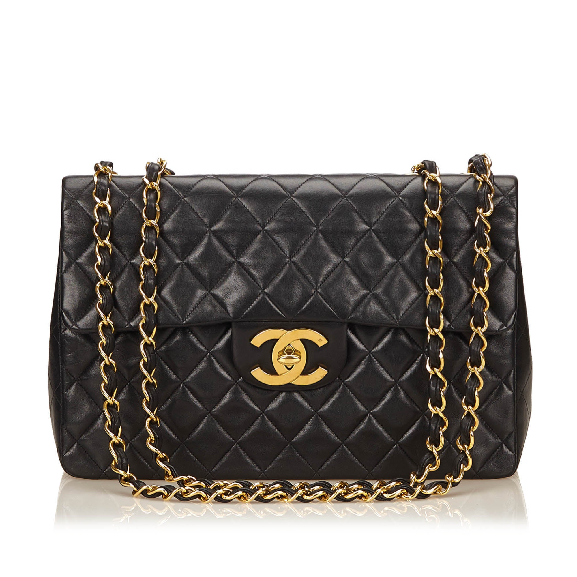 9184e9a2f21a Black Maxi Lambskin Classic Flap Bag · Chanel