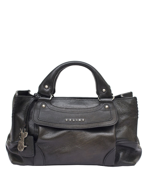Black Top Handle Bag