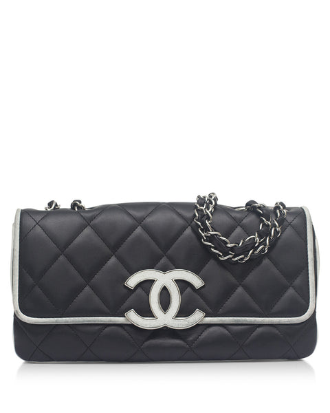 Black / White Flap Bag