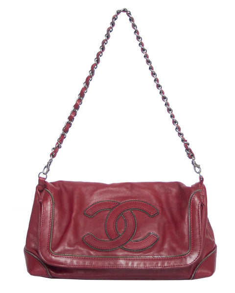 Burgundy Fold Over Bag