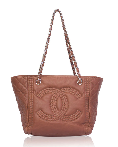 Brown CC Tote Bag