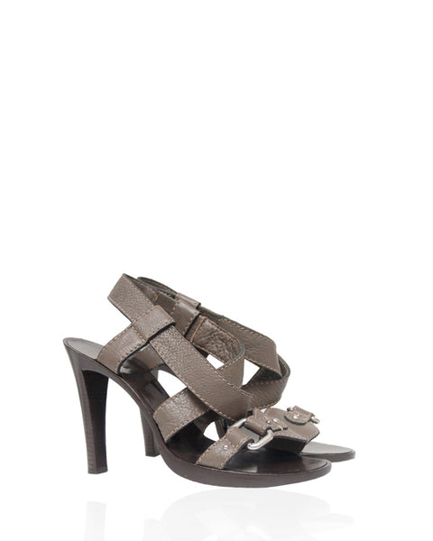 Taupe Leather Sandals