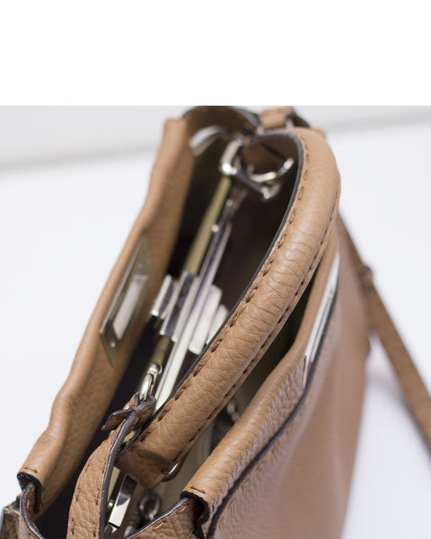 Brown Selleria Medium Peekaboo Bag