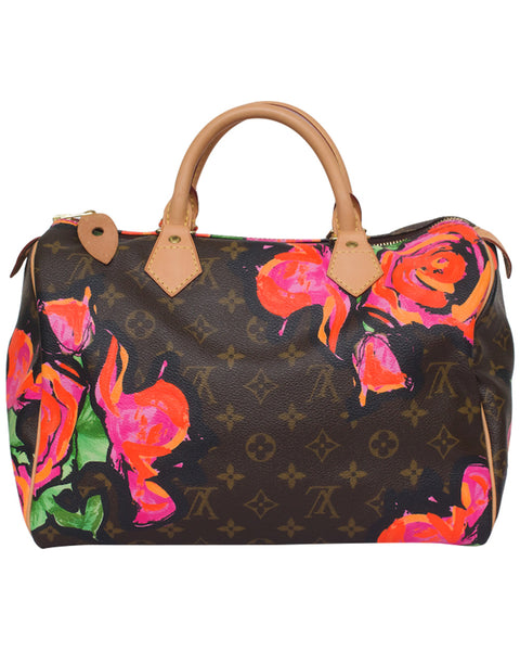 Monogram Roses Speedy 30