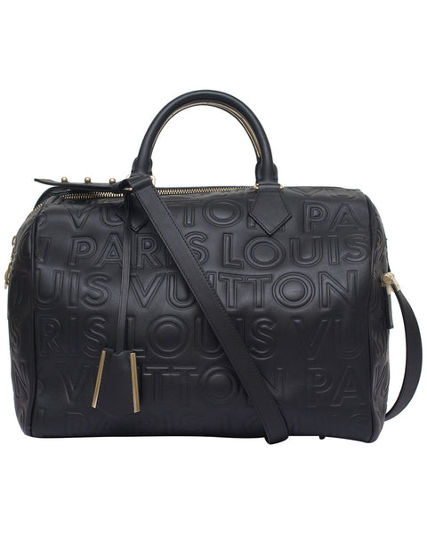 Black Speedy Paris Cube Bag