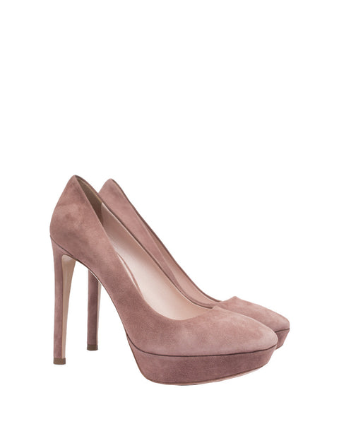 Rose Suede Pumps