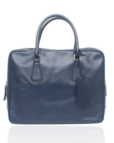 Navy saffiano Travel Bag