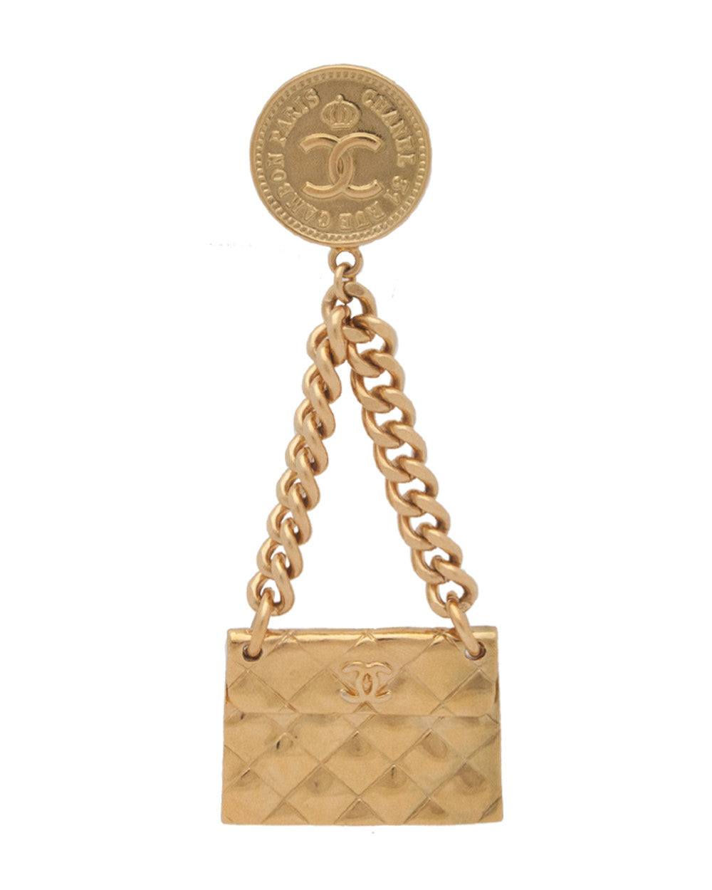 Vintage Chanel Classic Flap Bag Brooch