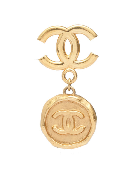 Vintage Chanel CC Medallion Brooch