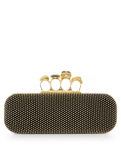 Studded Knucklebox Clutch