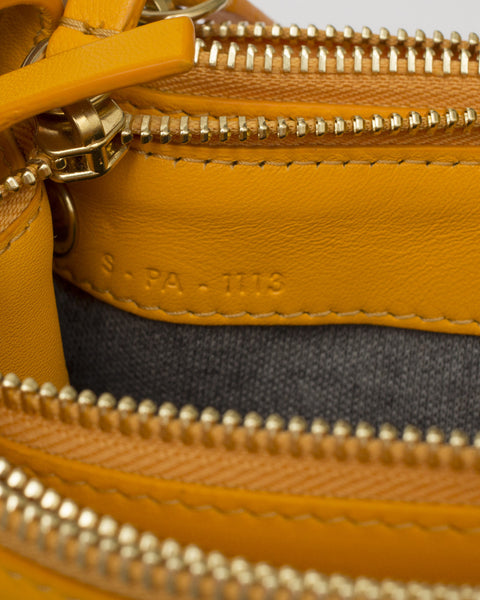 Orange Leather Trio Bag