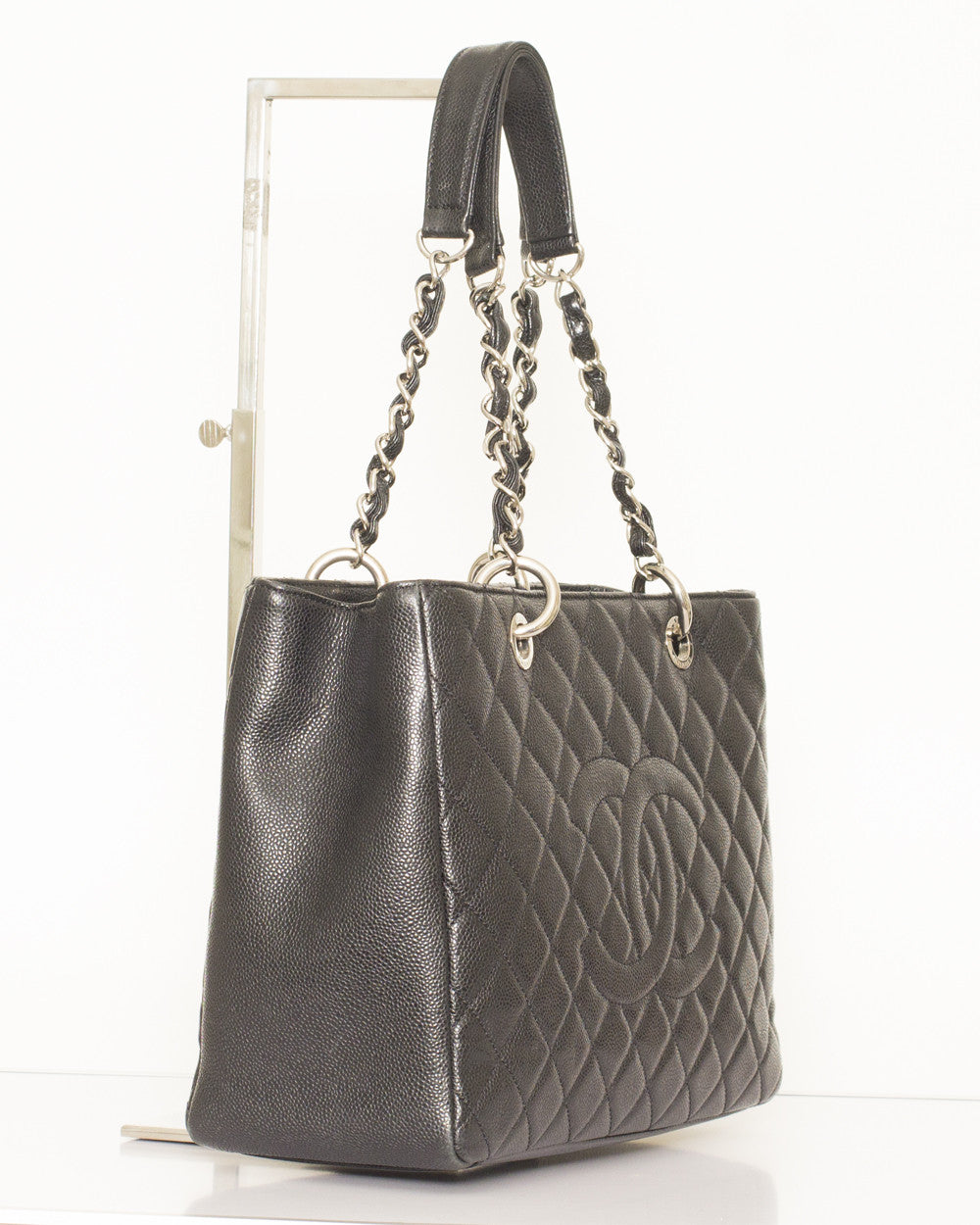 Black Grand Shopping Tote