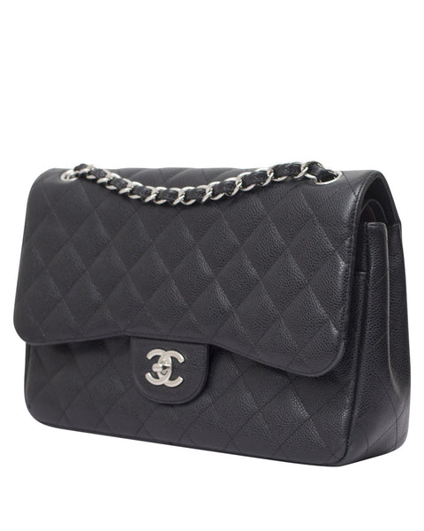 Black Caviar Flap Bag
