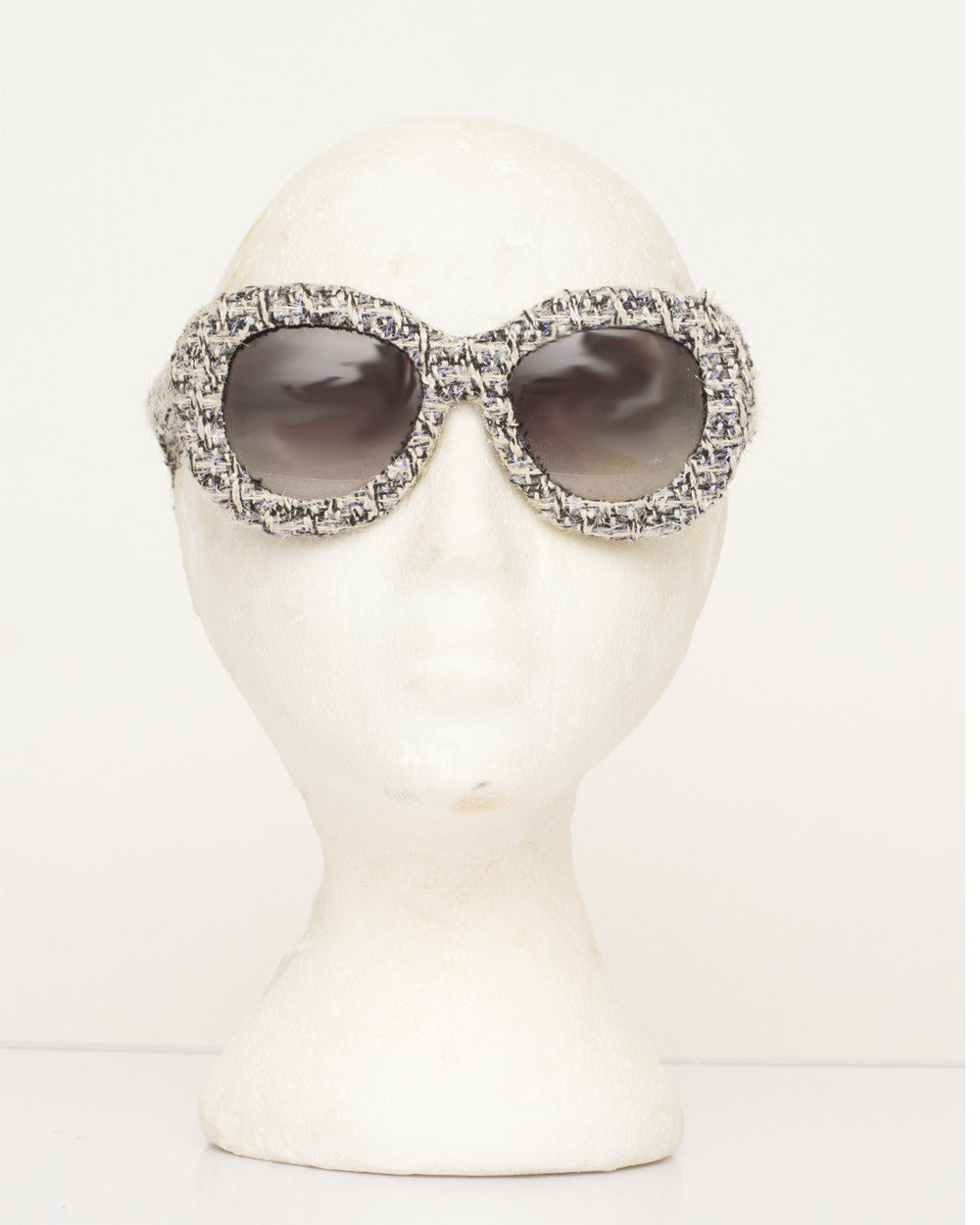 Tweed Oversized Sunglasses