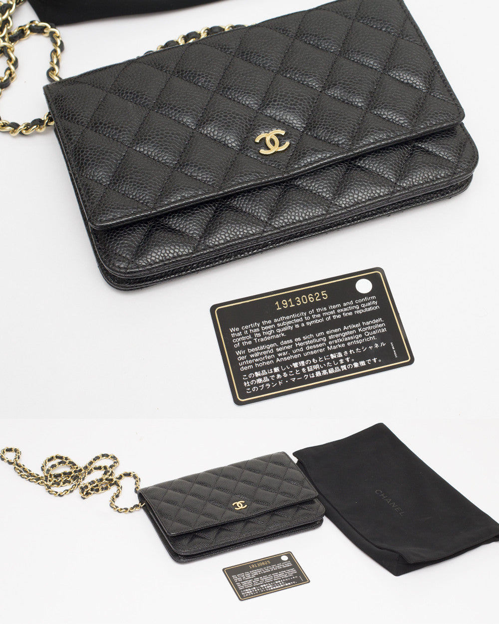 Black Caviar Wallet On Chain Bag
