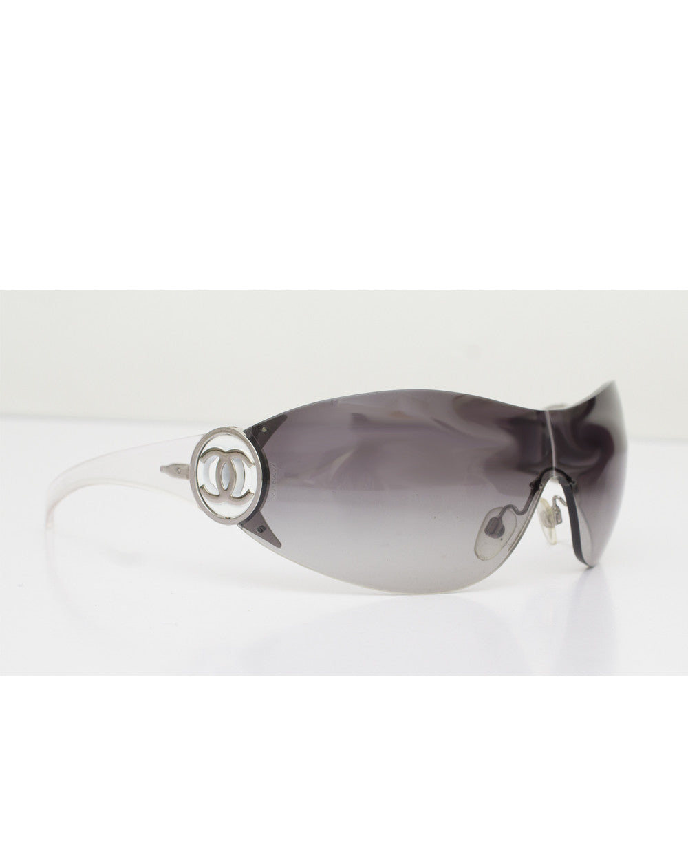 Transpararent Glam Shield Wrap Sunglasses
