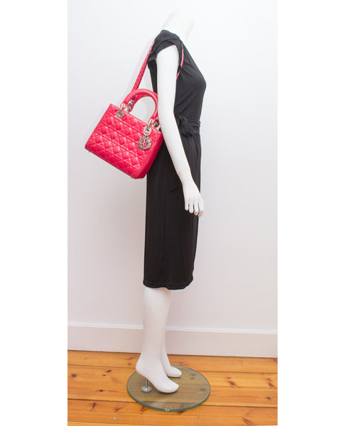 Patent Fuchsia Lady Bag
