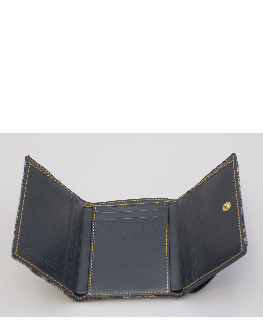 Blue Canvas Saddle Wallet