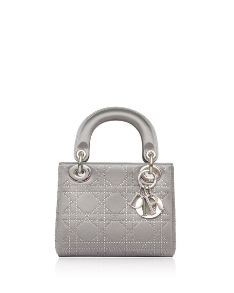 Christian Dior Grey Swarovski Micro Lady Dior Bag – High Fashion Society 5f798465add28