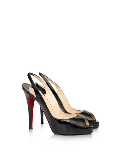 Black No Prive Sling Backs
