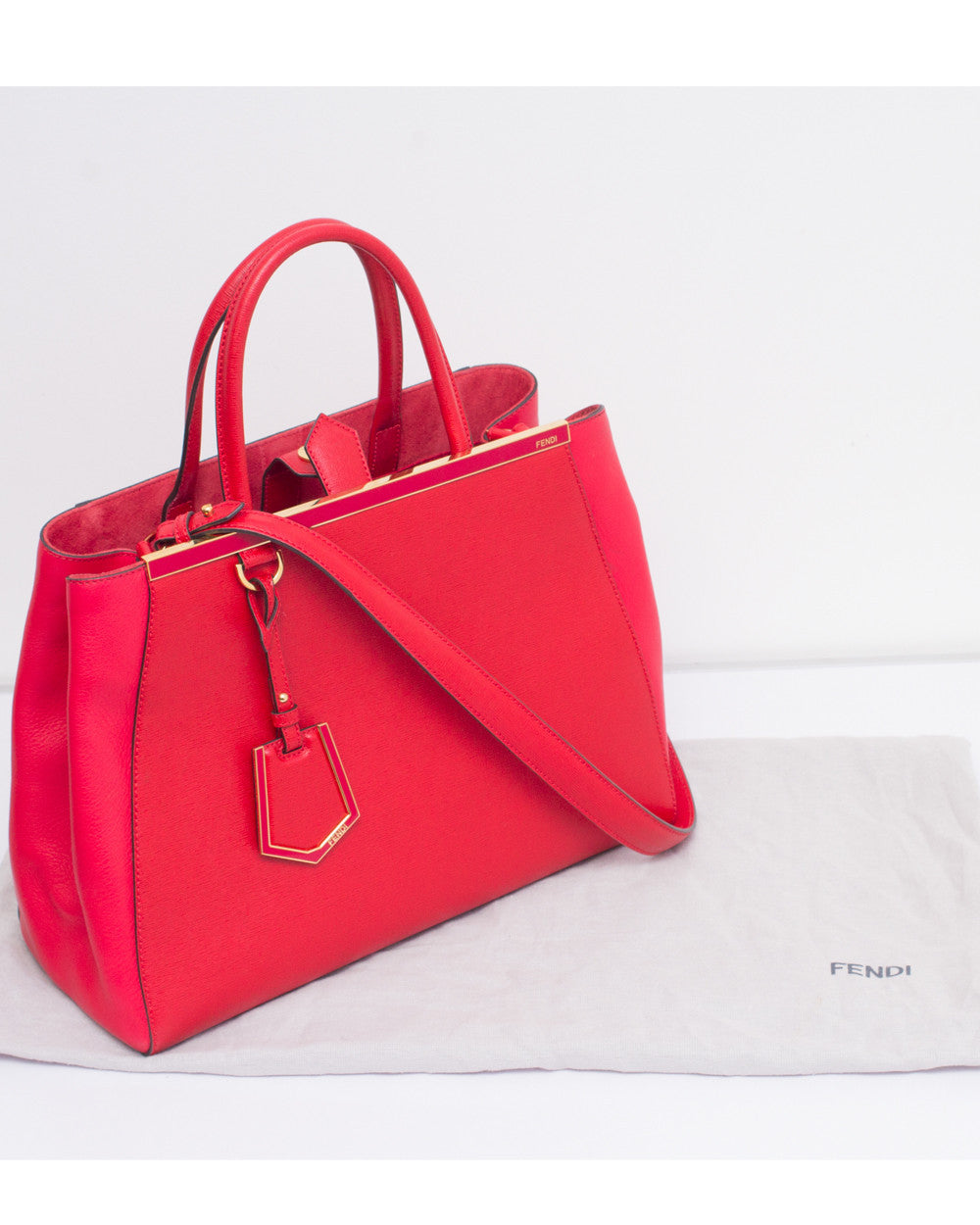 Red 2Jours Medium Shopping Tote