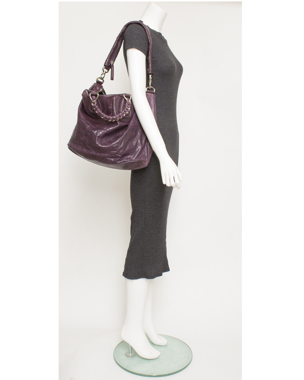 Purple Nightingale Large Tote