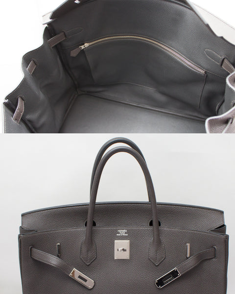 Anthracite Birkin Bag 40cm