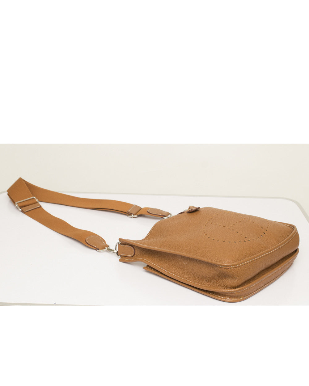 Gold Evelyn III Messenger Bag