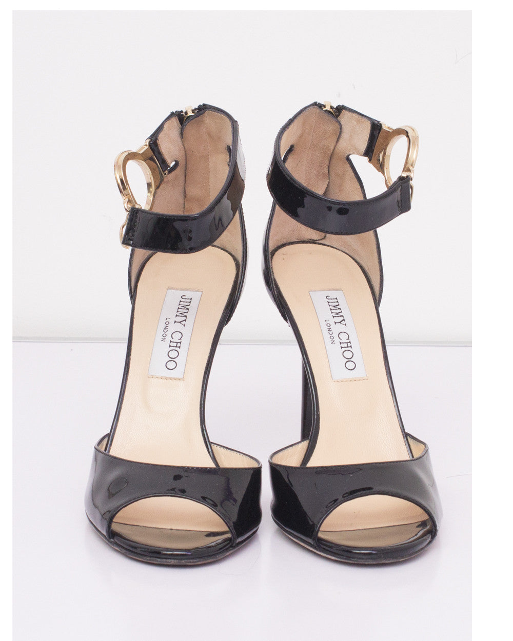 Black Patent Deuce Sandals
