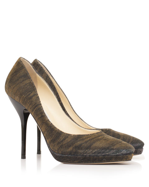 Metallic Laurie Zebra Pumps