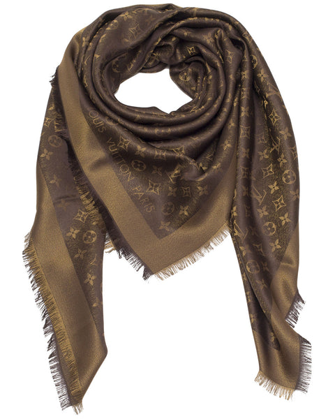 Monogram Brown Shine Shawl