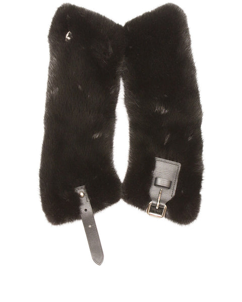 Black Mink Marina Fur Collar