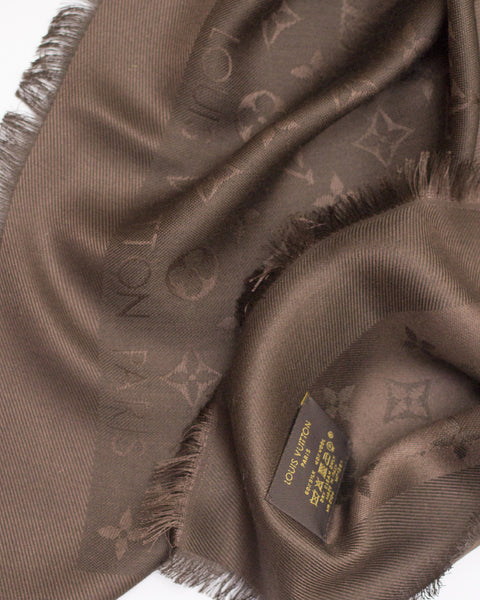 Monogram Chocolate Shawl