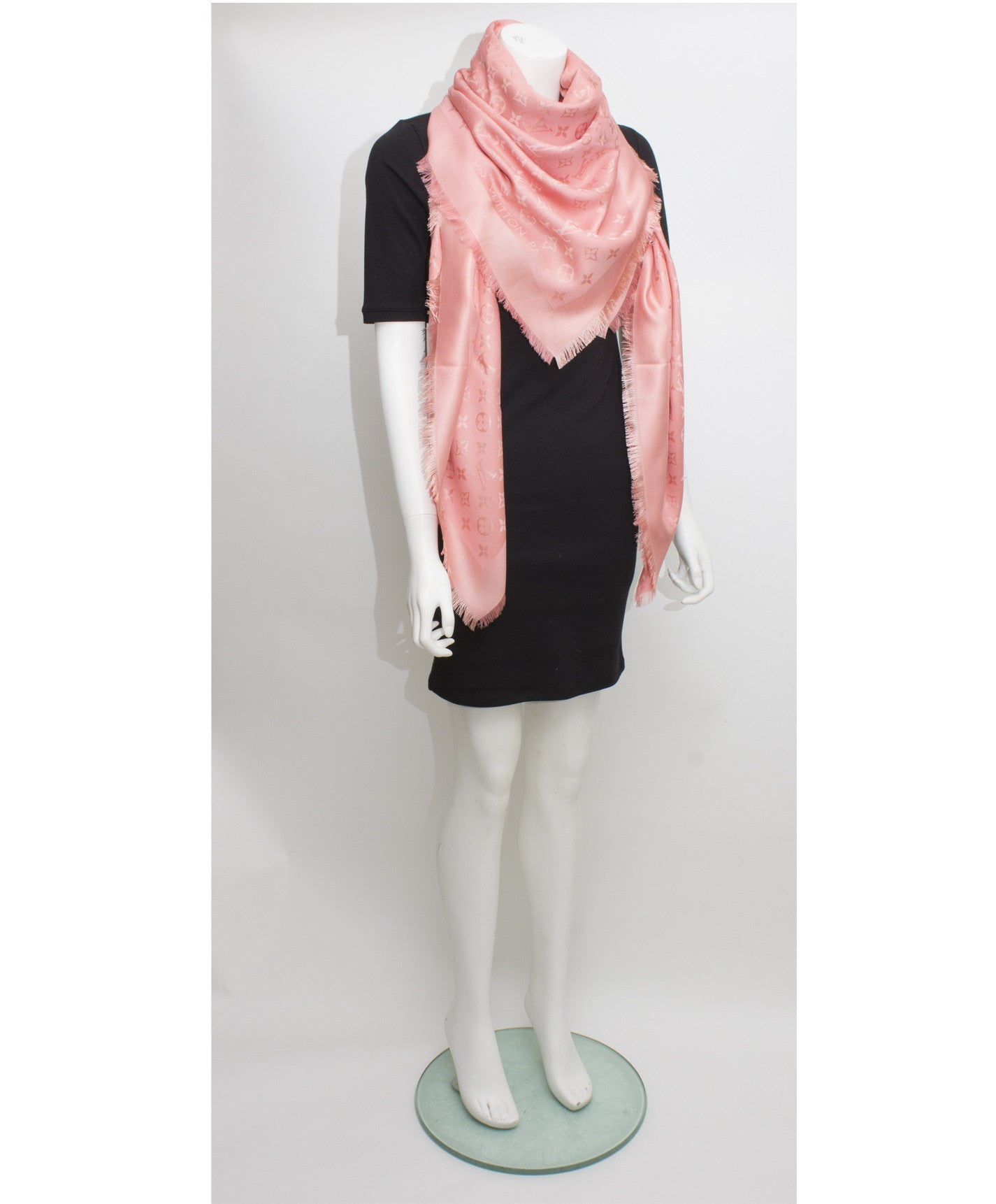 Monogram Peach Shawl
