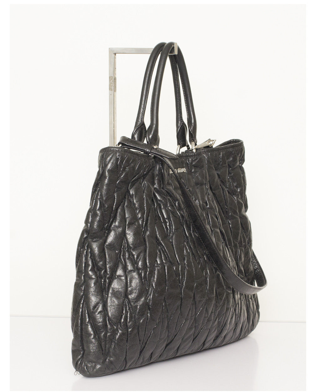 Black Matallase Tote Bag