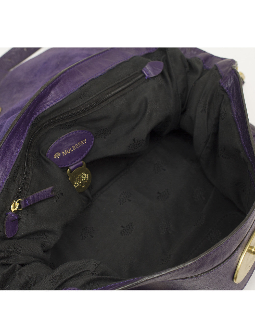 Purple Leather Alexa Bag