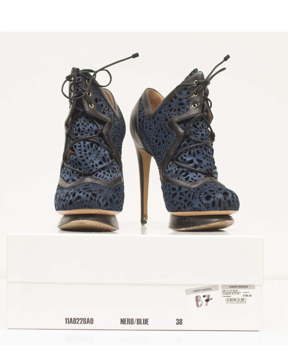 Blue Laser Cut Out Bootie