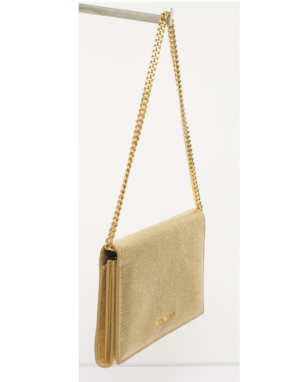 Gold Metallic Chain Wallet