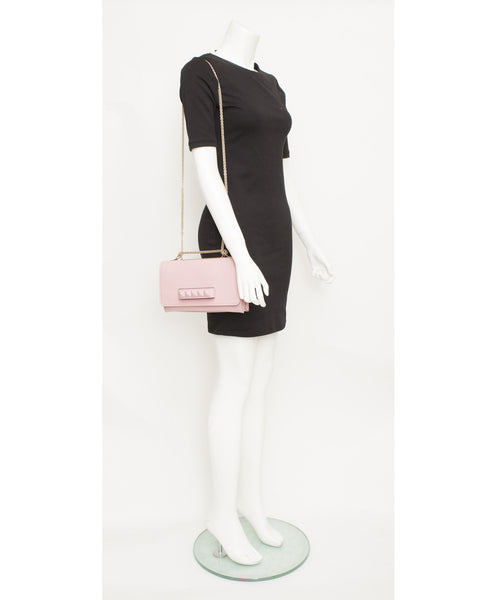Pink Va Va Voom Leather Flap Bag