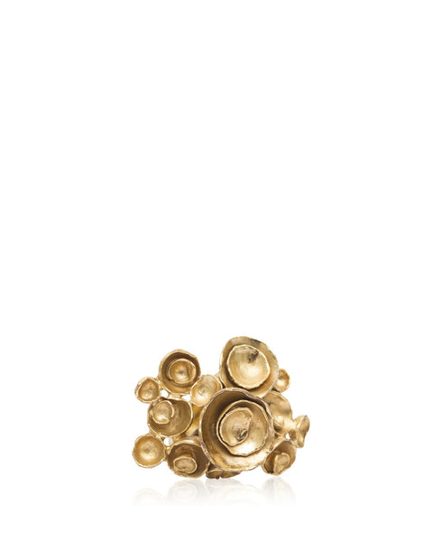 Gold Floral Abstract Ring