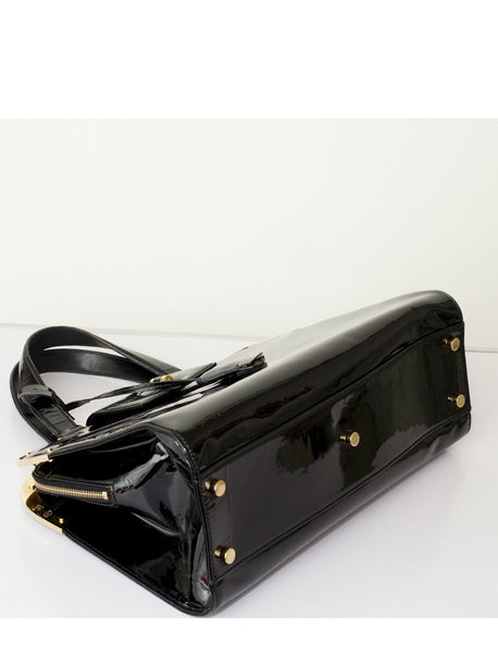 Black Patent Leather Uptown Bag