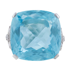 23ct Aquamarine Diamond Ring